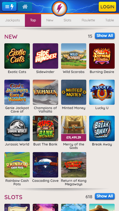 Powerspins Mobile New Games