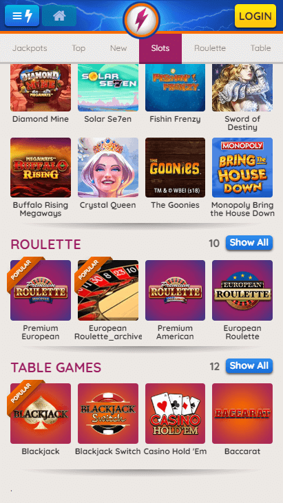 Powerspins Mobile Roulette & Table Games