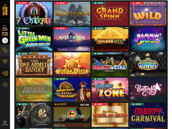 Shadowbet Casino Desktop Slots