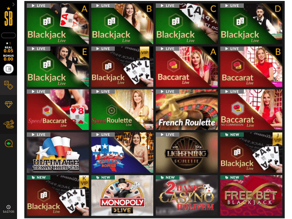 Shadowbet Casino Desktop Live Casino