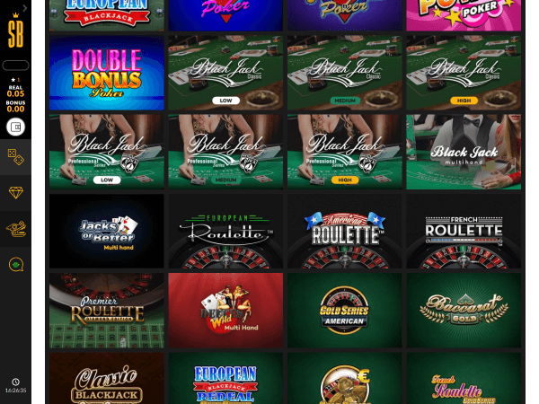 Shadowbet Casino Desktop Table Games