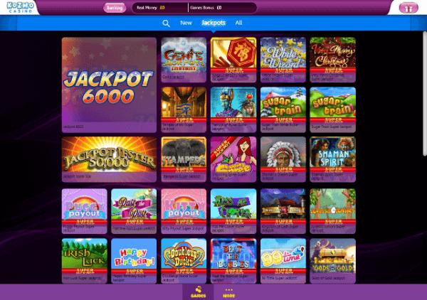 Kozmo Casino Desktop - Jackpots