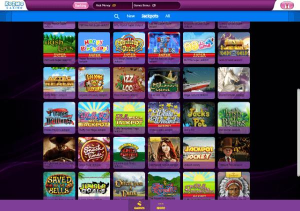 Kozmo Casino Desktop - Jackpots 2