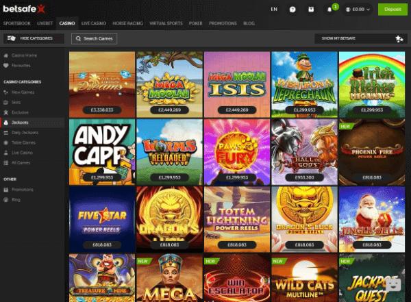 Betsafe Desktop - Jackpots
