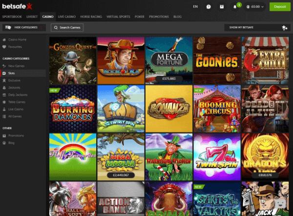 Betsafe Desktop - Slots