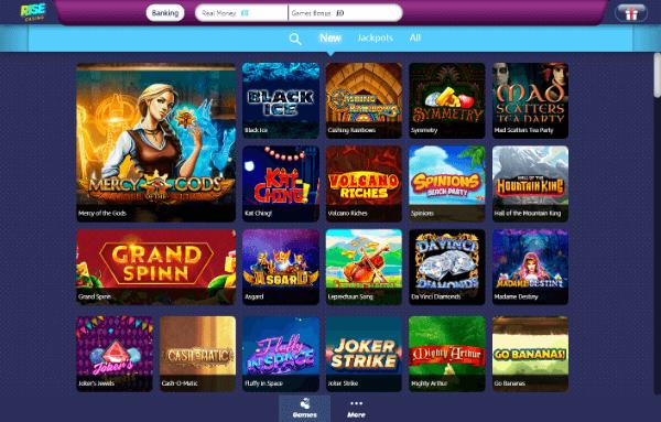 Rise Casino Desktop - New Games