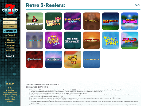 7Casino Desktop - Retro 3-Reel Games