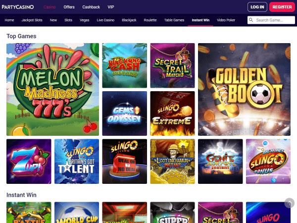 Party Casino Desktop - Instant Win