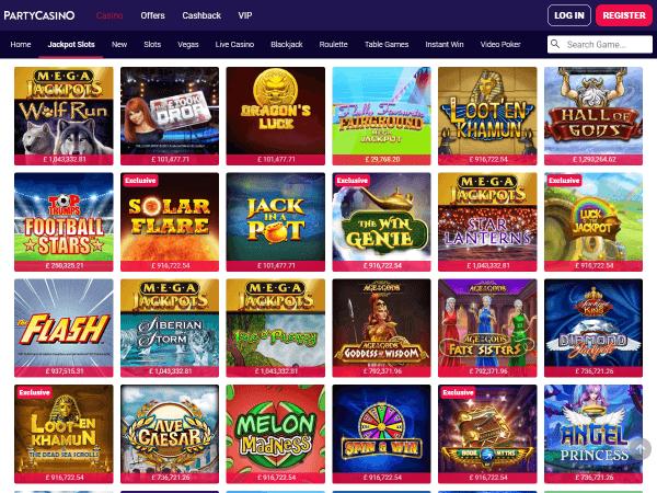 Party Casino Desktop - Jackpots 2