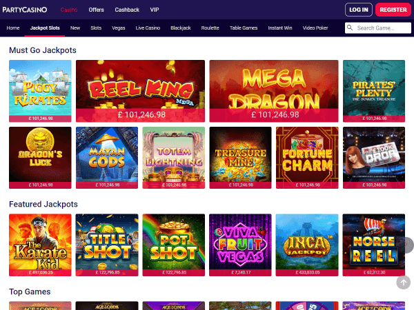 Party Casino Desktop - Jackpots