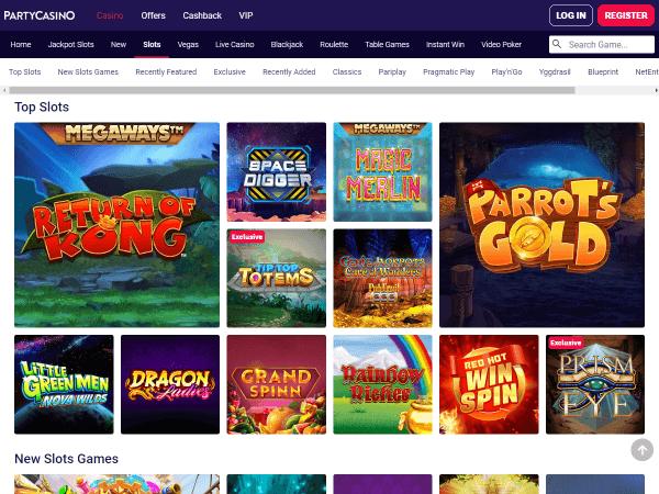 Party Casino Desktop - Slots