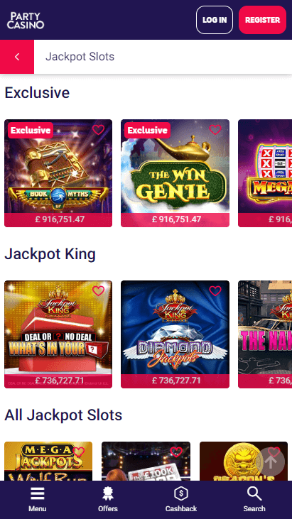 Party Casino Mobile - Jackpots 2