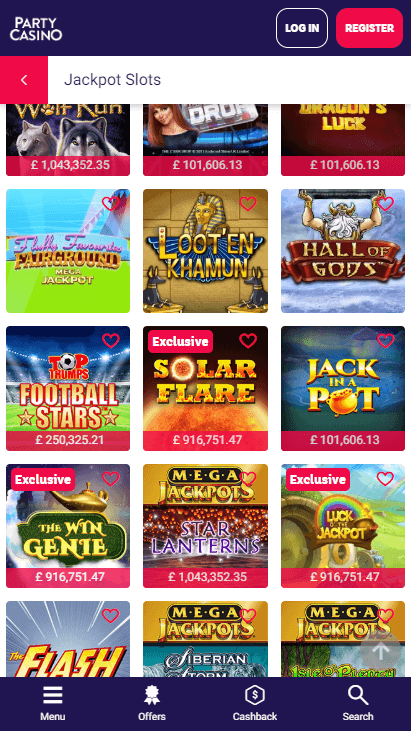 Party Casino Mobile - Jackpots 3