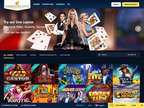 Viggoslots Desktop - Homepage