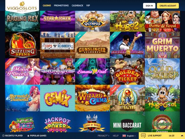 Viggoslots Desktop - Play'n Go Slots