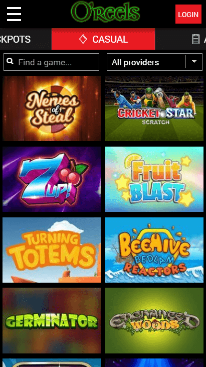 O'Reels Casino Mobile - Casual Games