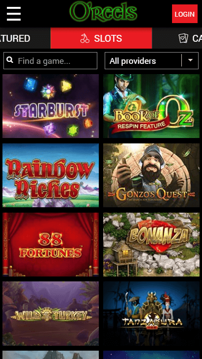 O'Reels Casino Mobile - Slot Games