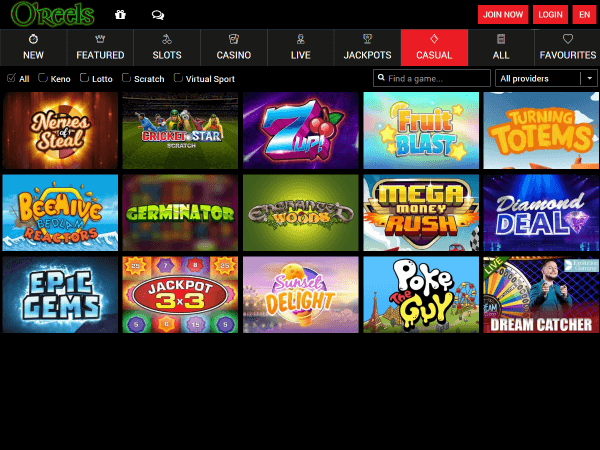O'Reels Casino Desktop - Casual Games