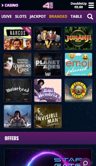 4Stars Games Mobile - Branded Slots