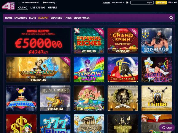 4Stars Games Desktop - Jackpots