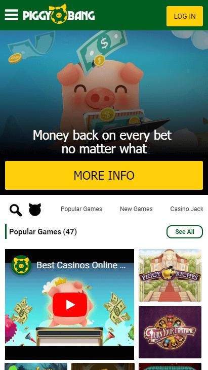 Piggy Bang Mobile - Homepage