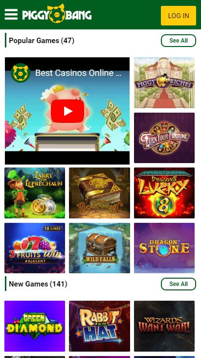 Piggy Bang Mobile - Popular Games