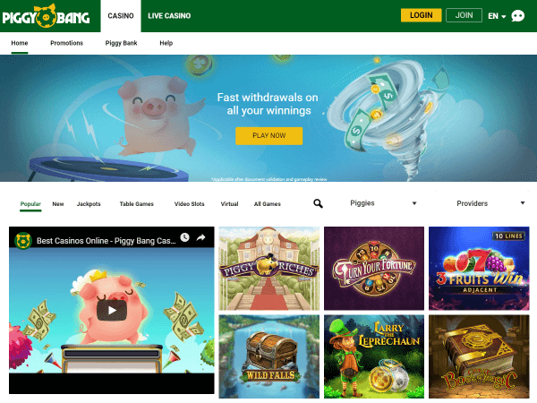 Piggy Bang Desktop - Homepage