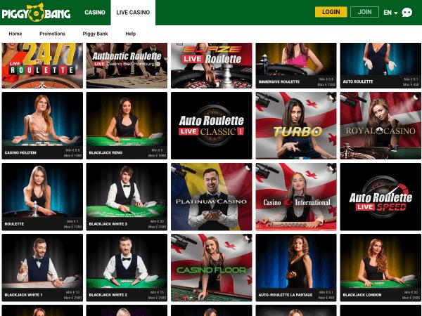 Piggy Bang Desktop - Live Casino