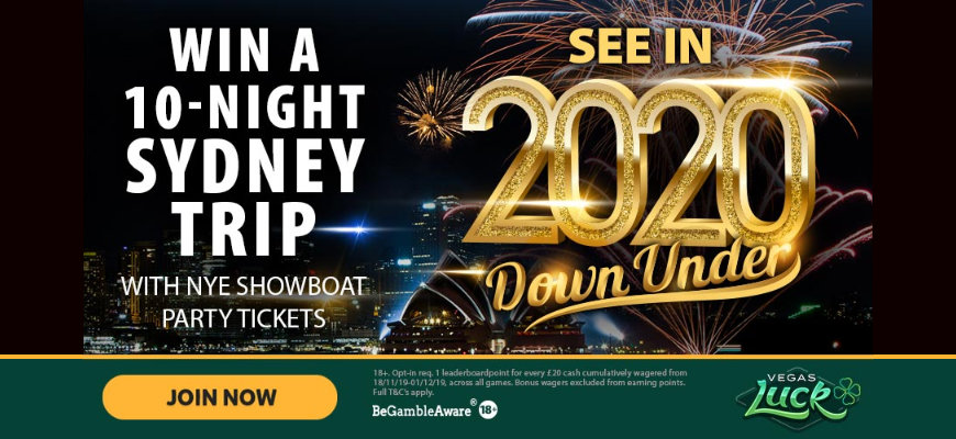 Win a NYE trip to Sydney Australia with Vegas Luck