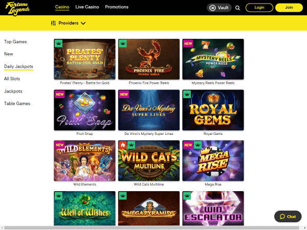 Fortune Legends Desktop - Daily Jackpots