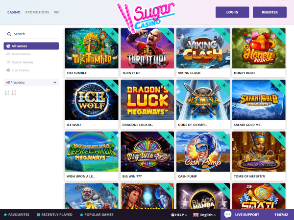Sugar Casino Desktop - All Games