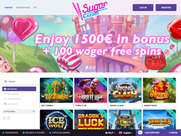 Sugar Casino Desktop - Homepage