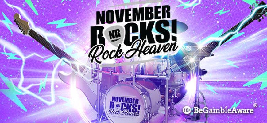 Make sure your November rocks with BGO Casino's 30k giveaway - Banner