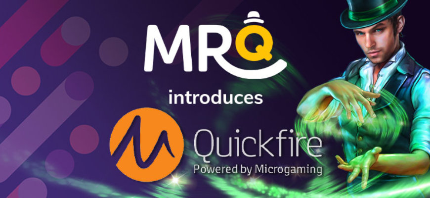Influx of Microgaming slots land at no wagering casino Mr Q - Banner