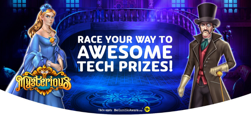 Race your way to awesome tech prizes with PlayOJO - Banner