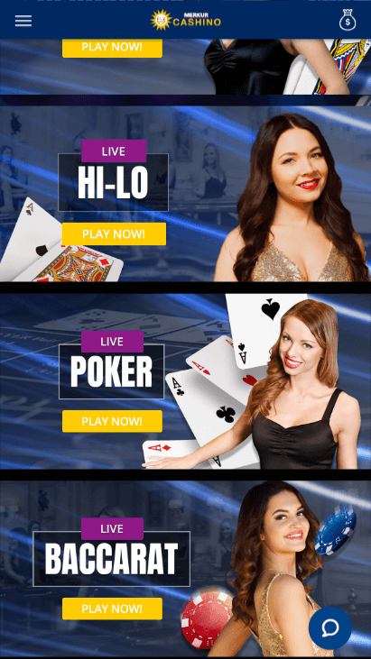 Cashino Mobile - Live Casino 2