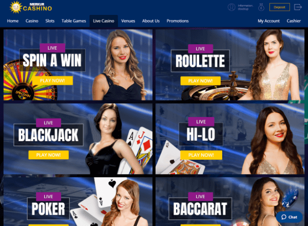 Cashino Desktop - Live Casino