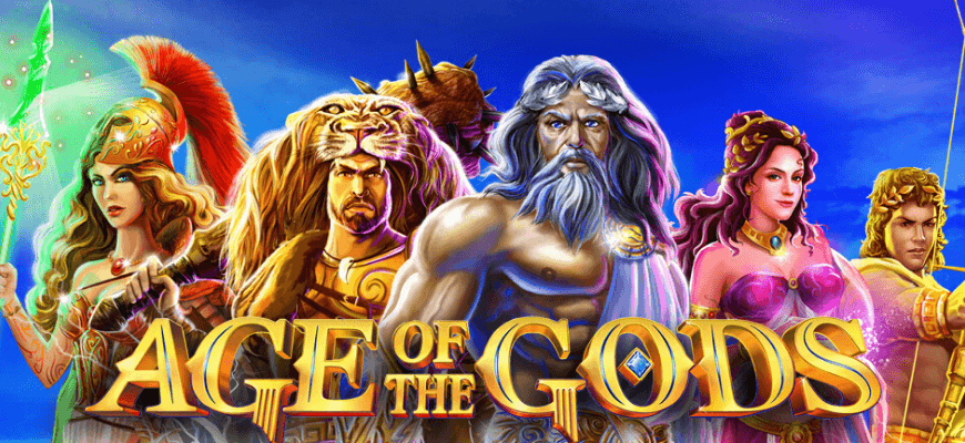 Age of the Gods online slots with wager free spins - Banner