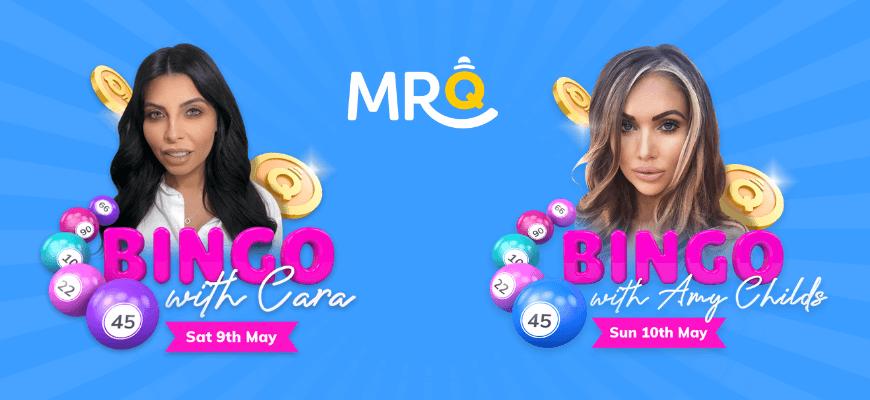 MrQ host weekend of influencer bingo featuring reality TV stars - Banner