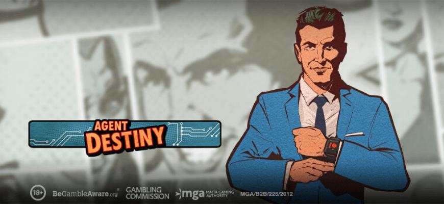 Play'n GO reveals brand new comic-book inspired slot Agent Destiny - Banner