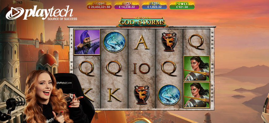 Playtech launches God of Storms Community Live Slot - Banner