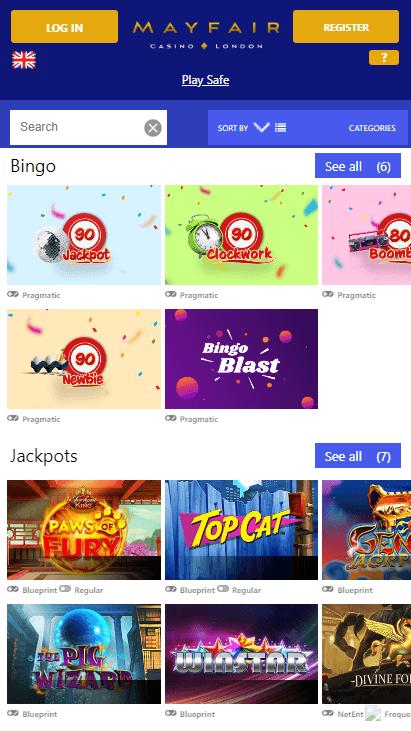 Mayfair Mobile Casino - Bingo