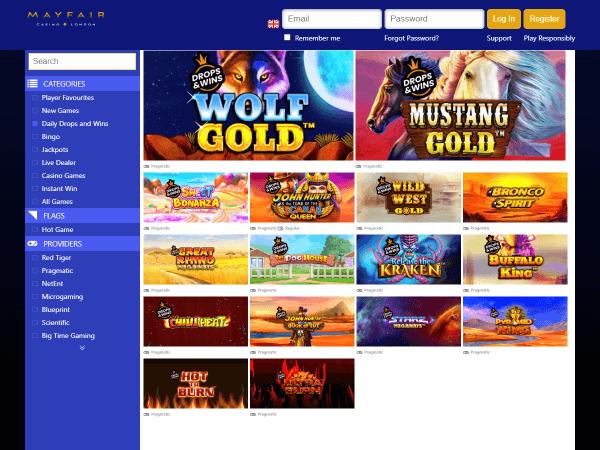 Mayfair Desktop Casino - Daily Drops