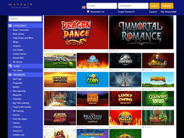 Mayfair Desktop Casino - Microgaming