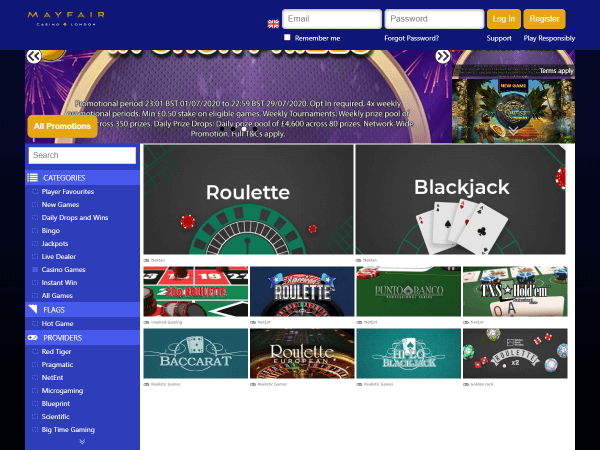 Mayfair Desktop Casino - Table Games