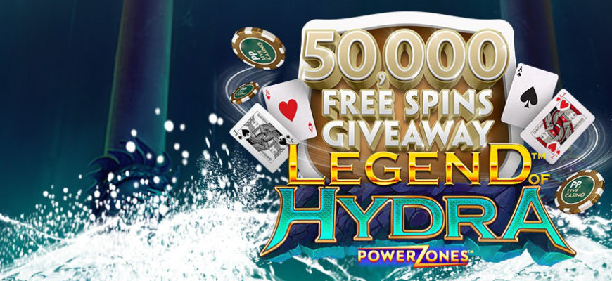 Celebrate Legend of Hydra release with 50,000 free spins - Banner