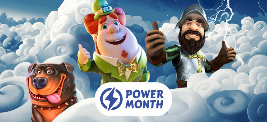 Earn up to 5% cashback during  Fortune Legends' Power Month - Banner