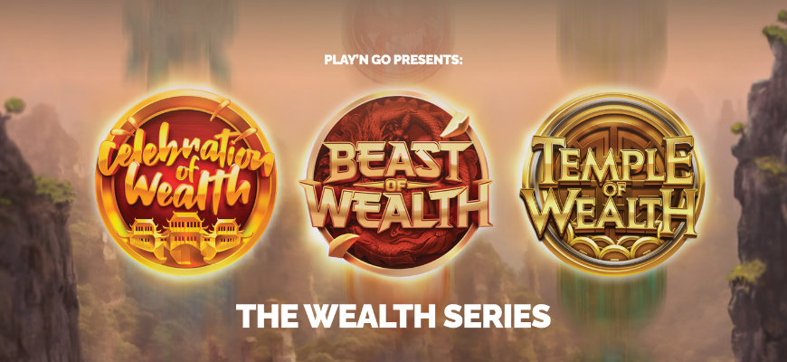 Play'n GO release three new games as part of brand new Wealth series - Banner