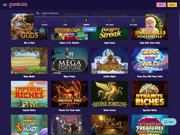 Gambola Casino Desktop - Jackpots