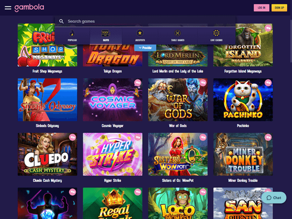 Gambola Casino Desktop - Slots